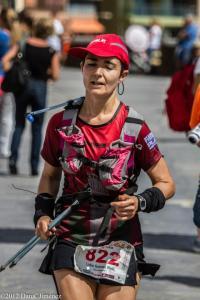Lidia Gomez en la ultra trail gran challange