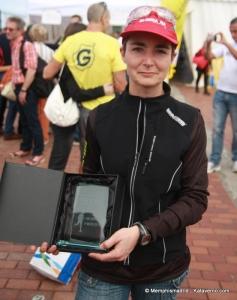 Lidia Gomez como ganadora de los83km de la Transgrancanaria 12