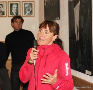 Nerea Martinez en la charla sobre como entrenar un ultra
